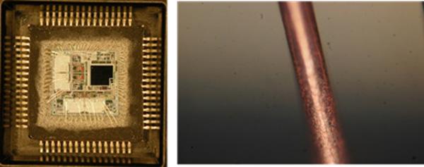 ウエットエッチング法(+レーザー)でのCuワイヤ開封事例
