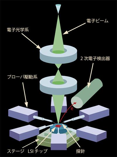 ナノプローバ内部構造イメージ図