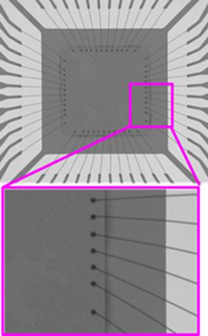 X線観察事例 (ICワイヤ品内部観察)