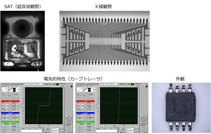 SAT(超音波観察),X線観察,電気的特性,外観